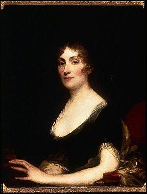 Sarah Wentworth Apthorp Morton - Portrait of Sarah Wentworth Apthorp Morton, ca.1802, by Gilbert Stuart (Museum of Fine Arts, Boston)