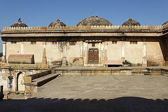Mahmud Begada - Mausoleum of Mahmud Begada (left) and his queen Bibi Rajbai (right) at Sarkhej Roza, Ahmedabad