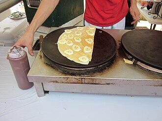 Crepe maker - A crepe maker in New Orleans
