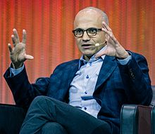 Satya Nadella - the friendly, enigmatic, charming,  director  with Indian roots in 2019