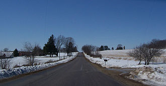 Sauk County, Wisconsin - Typical Sauk County countryside