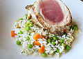 Sautéed Greg Abrams Yellowfin Tuna (6928715638).jpg