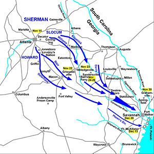 Western Theater of the American Civil War - Sherman's March to the Sea