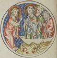Sbs-0008 038r Christus fordert Petrus und die Fischer auf, ihn im Boot hinauszufahren.TIF