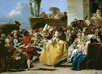 Giovanni Domenico Tiepolo - Scène Carnival, le menuet, 1750, Musée du Louvre, Paris.