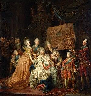 Johann Eleazar Zeissig - The kurfürstlich-sächsische family (1772)