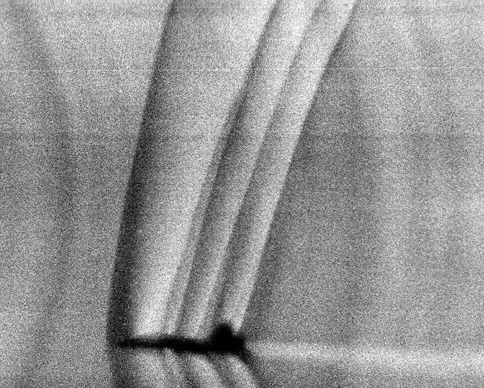 Schlieren photograph of T-38 shock waves