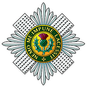 Regiment - Regimental badge of the Scots Guards.
