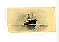 Scrap of letterhead stationery from R. M. S Carpathia with a small engraving of ship, ca. 1912.jpg