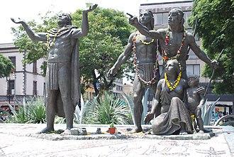 Monumento de la Fundación de México-Tenochtitlan - Statues, 2013