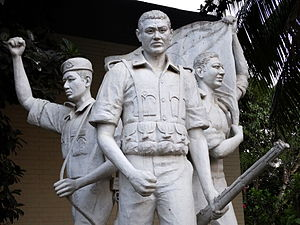 Chittagong Hill Tracts conflict - Sculpture Glorifying Bangladesh Military at Bandarban Hill tracts