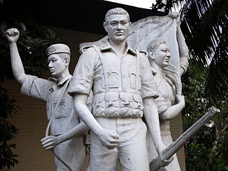 Chittagong Hill Tracts conflict - Sculpture glorifying the Bangladeshi military in the Bandarban Hill tracts.