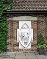Sculpture of St Katharine at Royal Foundation of St Katharine, Butchers Row, London E14 - geograph.org.uk - 804710.jpg