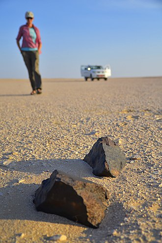 Meteorite find - Search for meteorites at the Dhofar Desert, Arabian Peninsula (Oman, Dhofar Desert, November 2012)