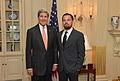 Secretary Kerry Poses for a photo with Leonardo DiCaprio 2014.jpg