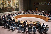 Secretary Kerry and Foreign Leaders Vote During the UN Security Council Meeting on Syria (23744211832).jpg