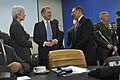 Secretary of Defense Leon E. Panetta talks with United kingdom's Minister of Defense Philip A. Hammond prior to the start of the NATO Ministers of Defense meeting at NATO Headquarters in Brussels.jpg