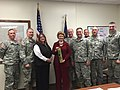 Senator Stabenow visits Camp Grayling, home base to 600 Army National Guard soldiers. An additional 10,000 military personnel, 100 Michigan law enforcement agencies, and 58 U.S. Air Marshals train there each year. (16003709524).jpg