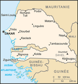 Mapa de República do Senegal