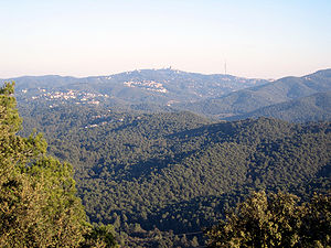 "The ""Serra de Collserola"" view from the Puig M..."