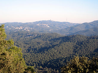 Catalan Coastal Range - Serra de Collserola, seen from Puig Madrona towards Tibidabo