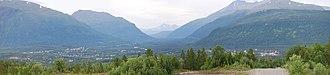 Bardu - Panorama of the village of Setermoen