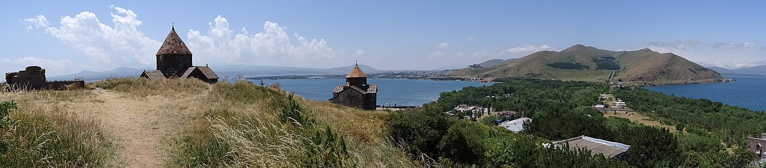 Sevan peninsula, Armenia, panoramic view (June 2015).jpg