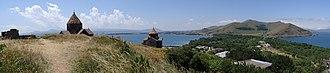 Sevanavank - Panoramic view of the Sevan Peninsula