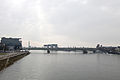 Severinsbrücke mit Kranhaus im Rheinauhafen Cologne 3.JPG
