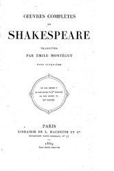 William Shakespeare: Œuvres complètes de William Shakespeare