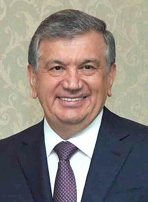 Prime Minister of Uzbekistan - Image: Shavkat Mirziyoyev (cropped)