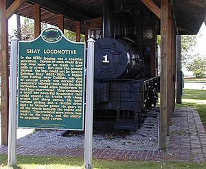 Cadillac, Michigan - The Shay Locomotive