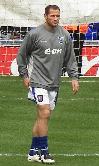 Shefki Kuqi - Kuqi warming up for Ipswich Town in 2008