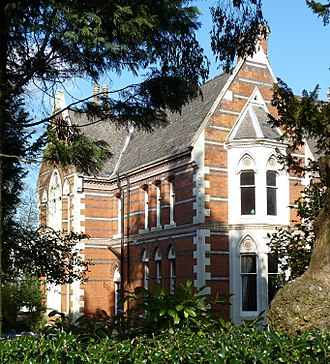 John Henry Chamberlain - Shenstone House of 1855: Chamberlain's first building in Birmingham, and the first High Victorian building in the town