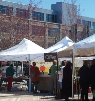 Alpert Medical School - The Ship Street Farmers' Market across from the Brown Med-Ed Building