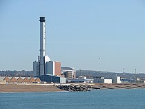 Shoreham Harbour Gas-fired Power Station Viewed From The East Breakwater - geograph.org.uk - 1013362.jpg