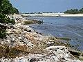 Shoreline following 2004 tsunami, before clean-up. Maldives 2005. Photo- AusAID (10720911455).jpg