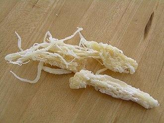 Dried shredded squid - Thumb sized single strand