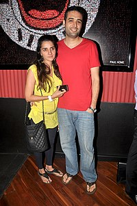 Shruti Seth With Husband Danish Aslam At The Premiere Of Ash Chandler S Play Comedy