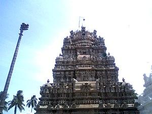 Kurmanathaswamy temple, Srikurmam - The vimana of the main temple