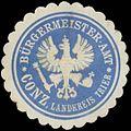 Siegelmarke Bürgermeister-Amt Konz Landkreis Trier W0383073.jpg