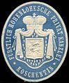 Siegelmarke Fürstlich Hohenlohesche Privat Kanzlei - Koschentin W0309531.jpg