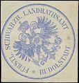 Siegelmarke F. Schwarzb. Landrathsamt Rudolstadt W0390440.jpg