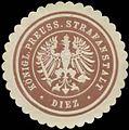 Siegelmarke Königl. Preuss. Strafanstalt Diez W0329199.jpg