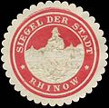 Siegelmarke Siegel der Stadt Rhinow W0393926.jpg