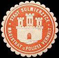 Siegelmarke Stadt Sulmierzyce - Magistrat und Polizei Verwaltung W0260659.jpg
