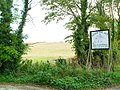 Sign and Field at Echlinville - geograph.org.uk - 1509951.jpg