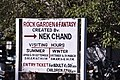 Sign pointing to the Rock Garden, Chandigarh's most famous landmark (44223900162).jpg