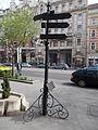 Signpole. Twin cities of Erzsébetváros. (SW)- Erzsébet Boulevard, Budapest.JPG