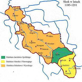 Duchies of Silesia - Image: Silesia 1185 1201